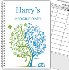 A5 PERSONALISED MEDICINE DIARY/ MEDICATION LOG BOOK/ DAILY MEDICINE RECORD 02
