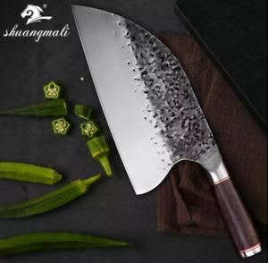 Custom Serbian Chef Knife Almazan Style Kitchen hand forged carbon blade
