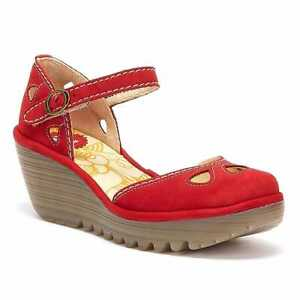 Fly London Yuna Womens Red Wedges