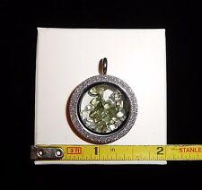 DINO: Beautiful Stainless Steel MOLDAVITE and HERKIMER DIAMOND Pendant - 11 gr.