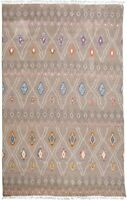 Tribal Geometric Moroccan Gabbeh Hand-Knotted Oriental Area Rug 10x14 Carpet