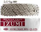 "Izumi Standard Silver 1/8"" 116L BMX Track Fixed Gear Single-Speed Bicycle Chain"