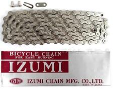 "Izumi Standard Silver 1/8"" 116L BMX Track Fixed Gear Single-Speed Bicycle Chain"