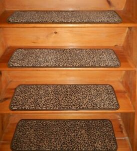 "21  Step  9"" x 30""  + 1  Landing  30"" x 30""   Stair Treads 100% Wool  Carpet"