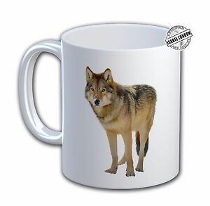 Personalised  WOLF ANIMAL MUG. Add any name and text free.IL-6602