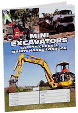 Logbook Mini Excavators Log book