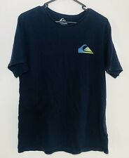 New listing Quiksilver Mens T-Shirt Size Medium M Navy Blue Graphic Tee Surf Wear