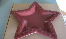 Longaberger Pottery Star Platter Serving Tray Paprika red New in box