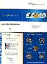 BRD 10 EURO Sondermünzen Set FIFA WM 2006 in Stempelgl. - 4 Münzen in Klappkarte