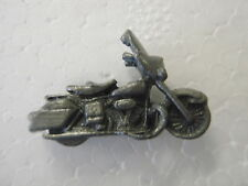 Vintage motorcycle pin biker trucker pinback  Harley    mini pewter