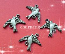 5 pz charms connettore a piccione color bronzo antico