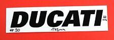 Autocollant sticker DUCATI - 173 x 32 mm-Moto Racing #119