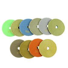 """New listing 20 Pcs 4"""" Resin Diamond Wet Dry Sanding Grinding Pad kit for Marble Granite"""