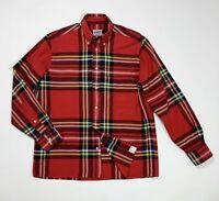 Richmans shirt quadri uomo usato M camicia men used cotone manica lunga T4984