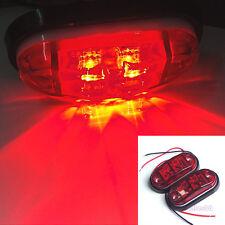 2pcs LED Ampoule Lampe Feu Latéral Lumière Rouge 12V 24V Remorque Camion