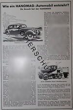 Hanomag automobile Hannover pubblicitari visualizzazione anno 1935 Insegne Pubblicità Advertising