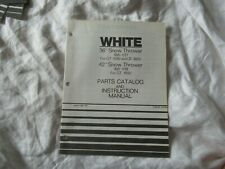 """White 36"""" 42"""" snow thrower  operator's instruction manual and parts catalog"""