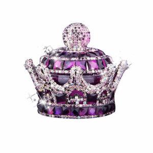 60ml Crystal Crown Car Home Office Air Freshener Perfume Fragrance Bottle 5Color