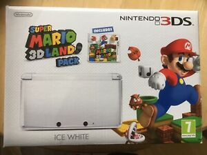 Ice White Nintendo 3ds Console Boxed Mario 3d Land Pack! Look At My Other Games
