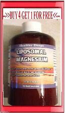 LIPOSOMAL MAGNESIUM 48 SERVINGS 1000mg/oz ORGANIC NON-GMO SOY FREE SHIP 8oz