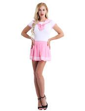 Women Nurse Maid Student School Girl Uniform Cosplay Halloween Fancy Skirt Dress