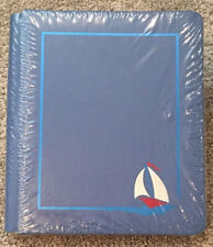 NEW Creative Memories 8 x 10 ~ BLUE SUMMER ALBUM ~12 White Pages Sailboat Boat