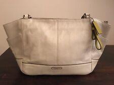 Genuine  Coach Park Pearl Leather Carrie Tote handbag BNWT