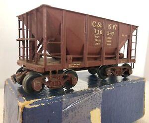 KTM brass No. 520 panel side ore car, painted C&NW, 2 rail, original box