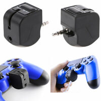 Black Controller Headphone Headset Earphones Mic Adapter for PlayStation 4 PS4