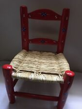 1 RED Wood Chair HAITI LWA VODOU RADA PETRO MAGIC VOODOO CHAIR TI CHèZ LOA