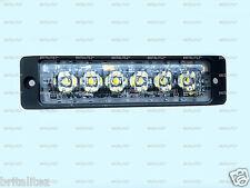 High Intensity 6 x 3W LED Warning Light Slimline SUPER Strobe 12/24V BLUE/RED