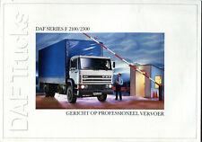 DAF Series F 2100/2300 lorries trucks Dutch market sales brochure
