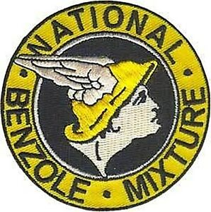 National Benzole iron on/sew on cloth patch (os)