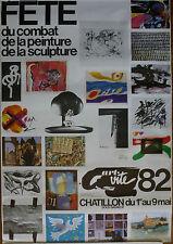 Affiche. Fête du combat de la peinture de la sculpture 1982
