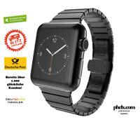 phelx Edelstahl Glieder Armband für Apple Watch 42mm & 44mm - Schwarz