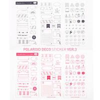 6 Sheets DIY Calendar Photo Paper Sticker Scrapbook Diary Planner Decor