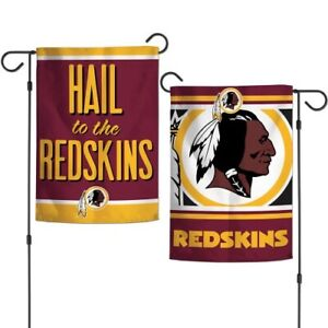 """WASHINGTON REDSKINS DOUBLE SIDED GARDEN FLAG 12""""X18"""" YARD BANNER OUTDOOR RATED"""