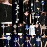Sweater Alloy Statement Tassel Necklace Long Chain Pendant Women Charm Jewelry