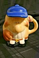 NEW GANZ 2 Piece Baseball Player - Hat Is A Lid-  NOVELTY COFFEE MUG