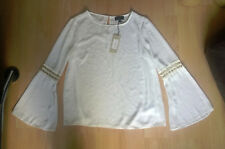 Brand New White Blouse with Fluted Sleeves from Lipsy Size 14