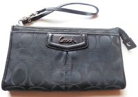 Coach Black Signature Leather Full Size Clutch Wallet