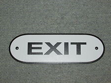 "EXIT 8"" Door Sign Black & White"