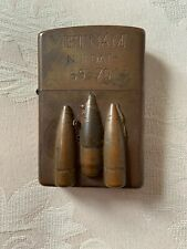 Zippo Vietnam 3 Raised Bullets Inscribed Lighter