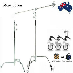 Heavy Duty C Light Stand Century Stand For Studio Photography/ Pro Castor Wheel