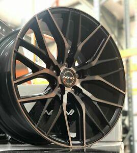 """19"""" Inovit Blitz Alloy Wheels 5x120 WIDE REAR Bk MF fit VW Transporter T5 T6"""