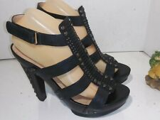 RACHEL ROY brown pumps studded heels platform womens size 8.5 M