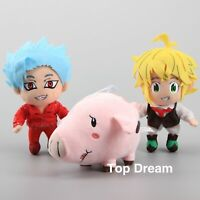 New Anime The Seven Deadly Sins Meliodas Ban Hawk Soft Plush Toy Kids Doll Gift