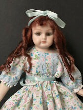 """Vintage Reproduction of Antique German/French (?) Porcelain 10"""" Doll"""