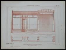 TONGRES, SALLE DES FETES - 1928 -PLANCHES ARCHITECTURE, FOUCART