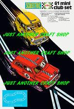 Scalextric Mini Cooper Racing conjunto no 61 A3 tamaño póster ANUNCIO FOLLETO signo